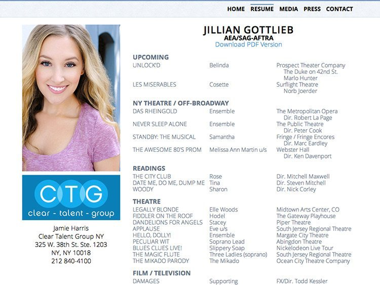Jillian Gottlieb Resume